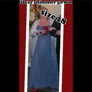 Grey shimmer formal gown